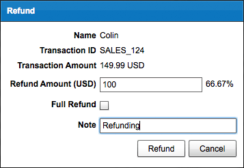 Issue PayPal Refund - Enter Amount