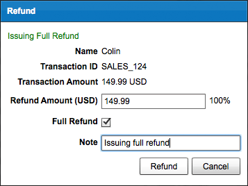 PayPal issue full refund