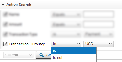 Search PayPal Transaction by Transaction Currency