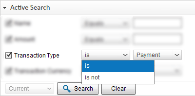 Search PayPal Transaction by Transaction type