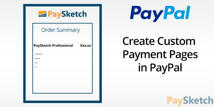 Create Custom Payment Page in PayPal