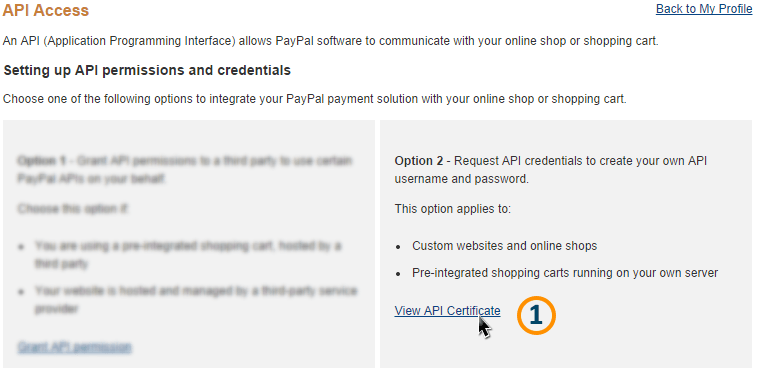 View API Certificate